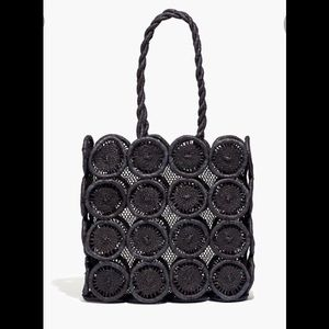 Madewell Straw Catania black bag